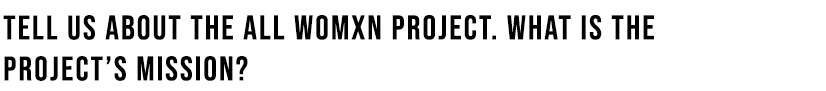 Projects Mission